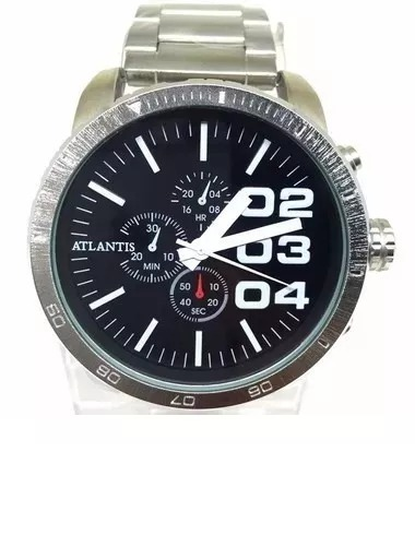 3bb96da2626 Relógio Masculino Prateado Barato Grande Promoção Atlantis - R  87 ...