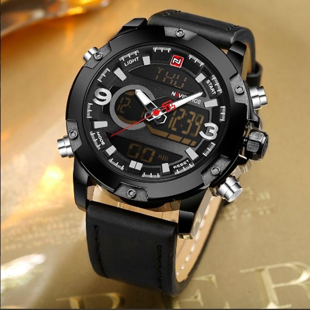 cea5385e9e7 relógio masculino preto esportivo luxo - frete grátis. Carregando zoom.