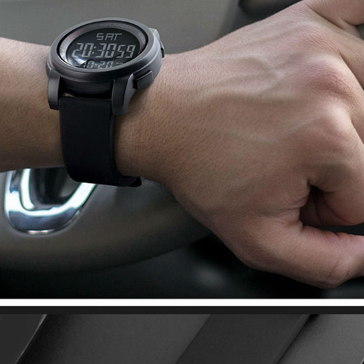 relógio masculino preto skimei barato 1257 menor preço!!!!!! Carregando  zoom. 5c035f2375
