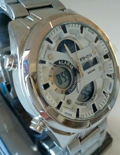 relógio masculino prova dágua militar barato + brinde