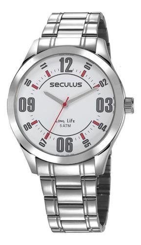 relógio masculino prova d'água seculus original 23657g0svna2