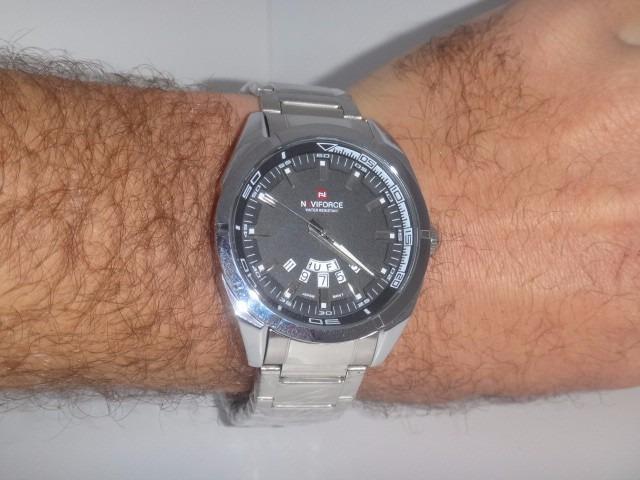 b84630811e922 Relógio Masculino Pulseira Aço Inox Social Luxo Frete Grátis - R ...