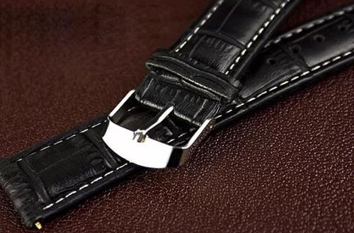 relógio masculino pulseira couro original social militar luxo geneva promoção