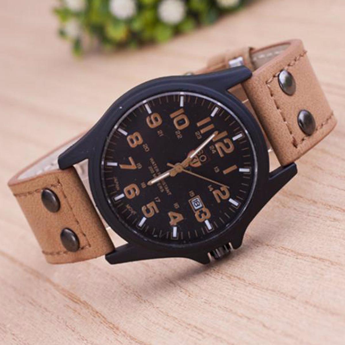 b9173642f18 relógio masculino pulseira couro relogio militar baratos sok. Carregando  zoom.