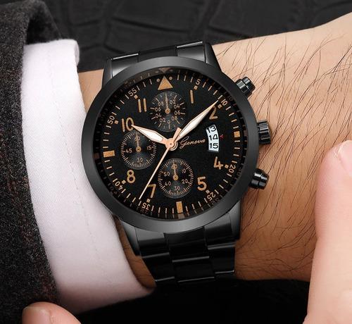 relógio masculino pulseira de aço