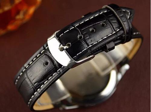 relógio masculino pulseira de couro luxo original barato promoção