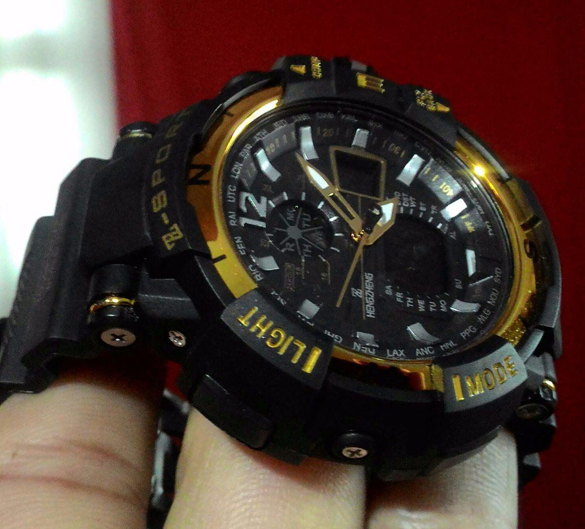 8283f123609 relógio shock masculino pulso digital analogico z sport 490. Carregando  zoom... relógio masculino pulso. Carregando zoom.