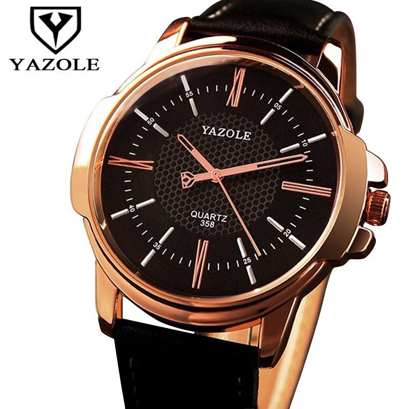7a96d8282dc Relógio Masculino Pulso Couro Preto Social Original Barato - R  44 ...