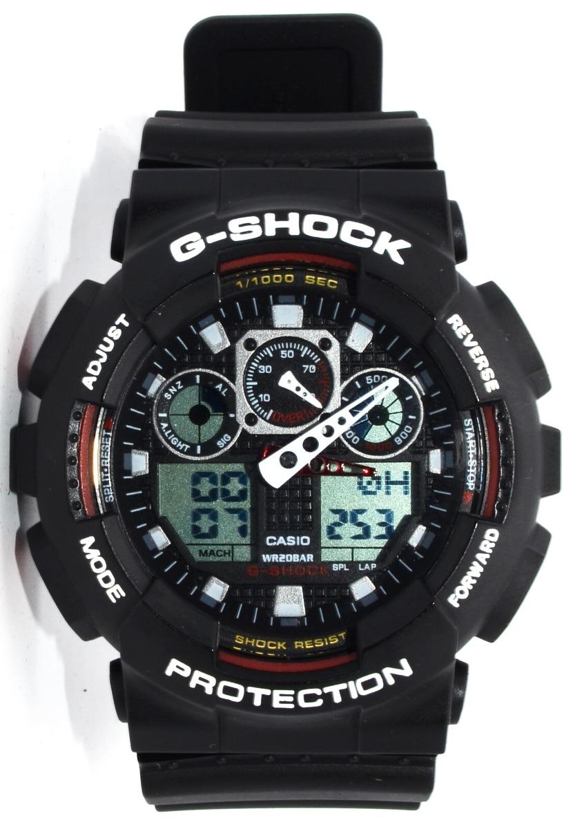 7cd900d6700 relógio masculino pulso casio g-shock ga100 preto. Carregando zoom.