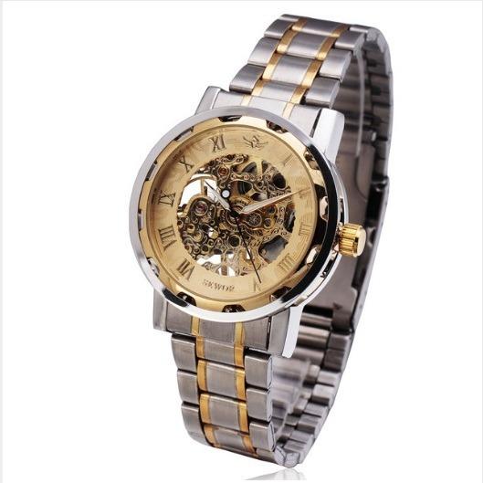b9e50ed1491bd Relógio Masculino Pulso Esqueleto Semi Automático À Corda - R  149,90 em  Mercado Livre