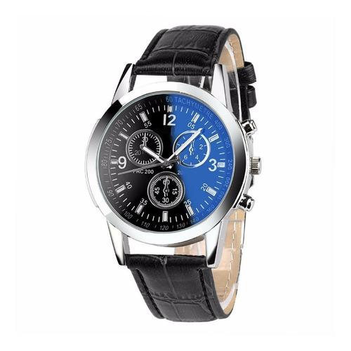 relógio masculino pulso geneva pulseira couro social outlet