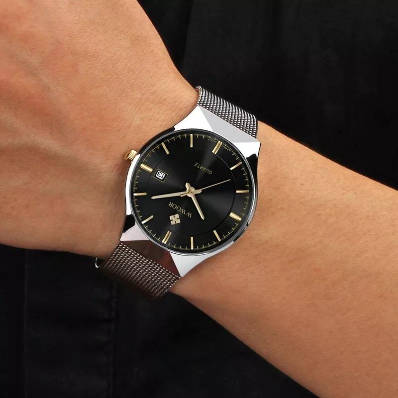 5d990ce31ec relogio masculino pulso importado ultra slim japonês de luxo. Carregando  zoom.
