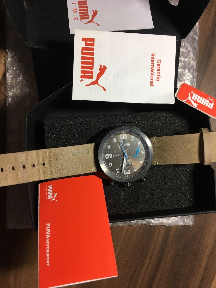 bbe4776e77e Relógio Masculino De Pulso Puma - Pulseira Couro Marrom - R  390