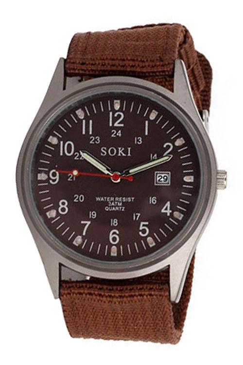 ad0bd6cf91e Relógio Masculino Pulso Soki Unisex Marrom - R  59