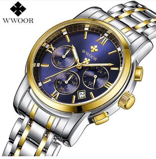 bb9adf49b2dad Relógio Masculino Pulso Wwoor 8864 Original Slim Luxo - R  210,00 em  Mercado Livre