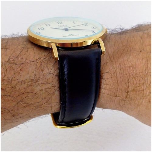 relógio masculino qq 103y original slim luxo executivo vip