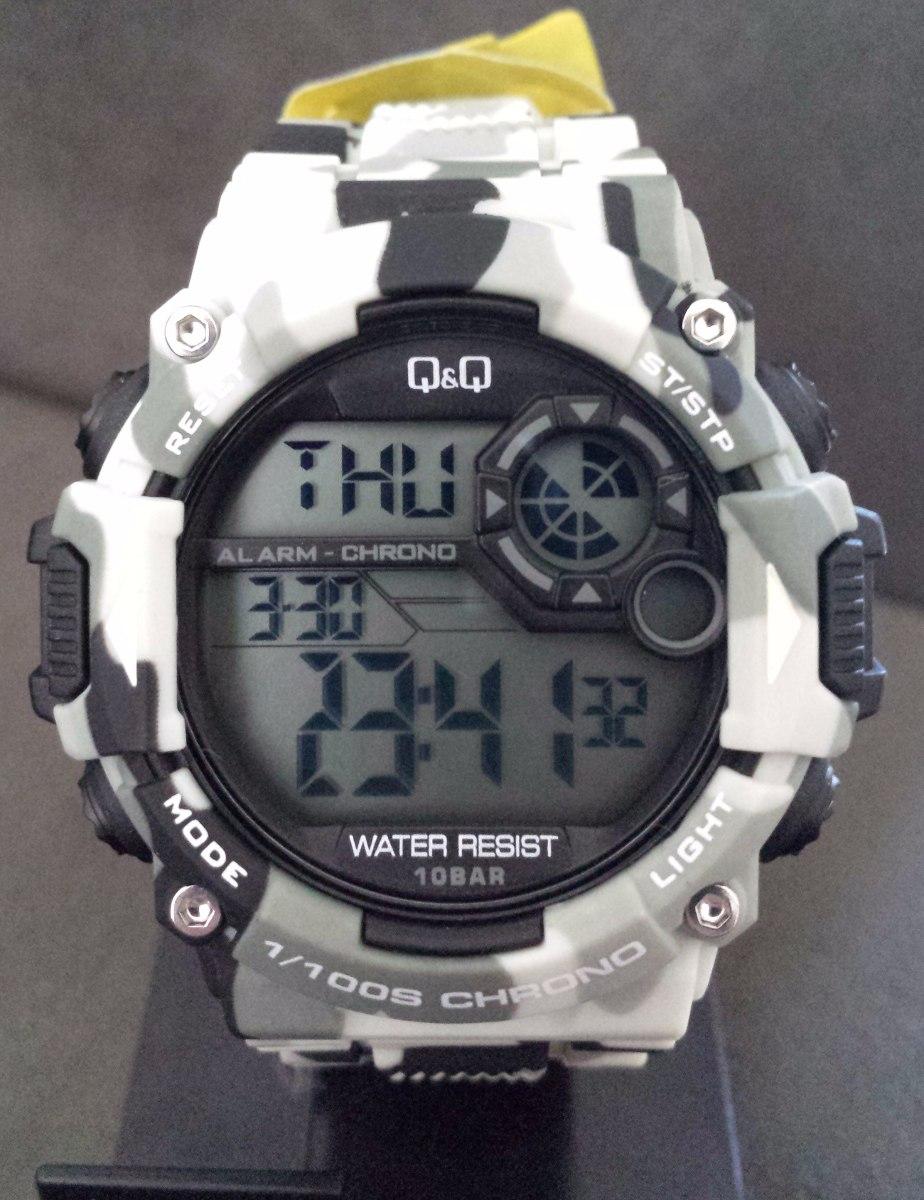 4f8a9f55276 relógio masculino q q militar camuflado prova d´agua. Carregando zoom.
