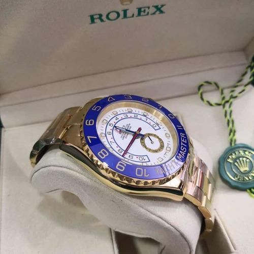 relógio masculino r yacht - master || - com caixa verde