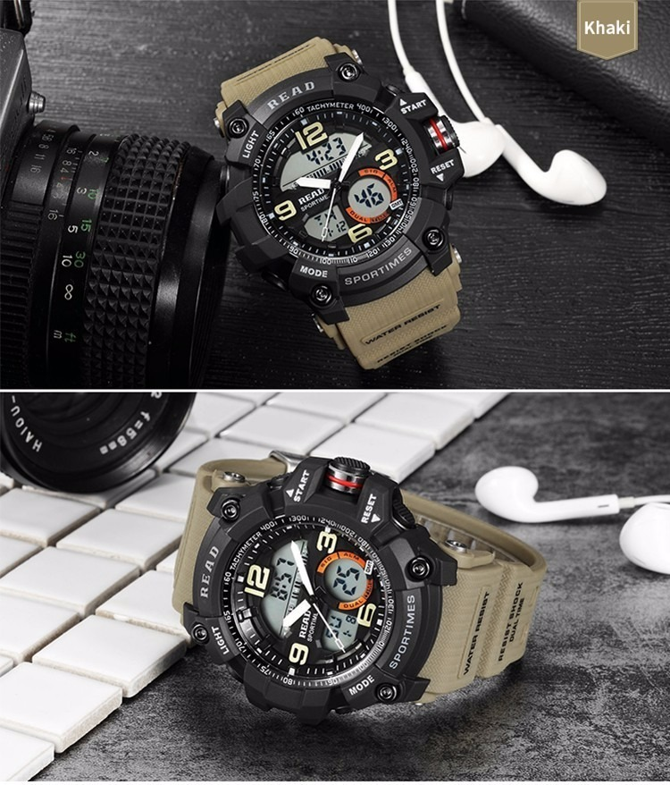 be05d4b6091 relógio masculino read esportivo militar cáqui (..) Carregando zoom.