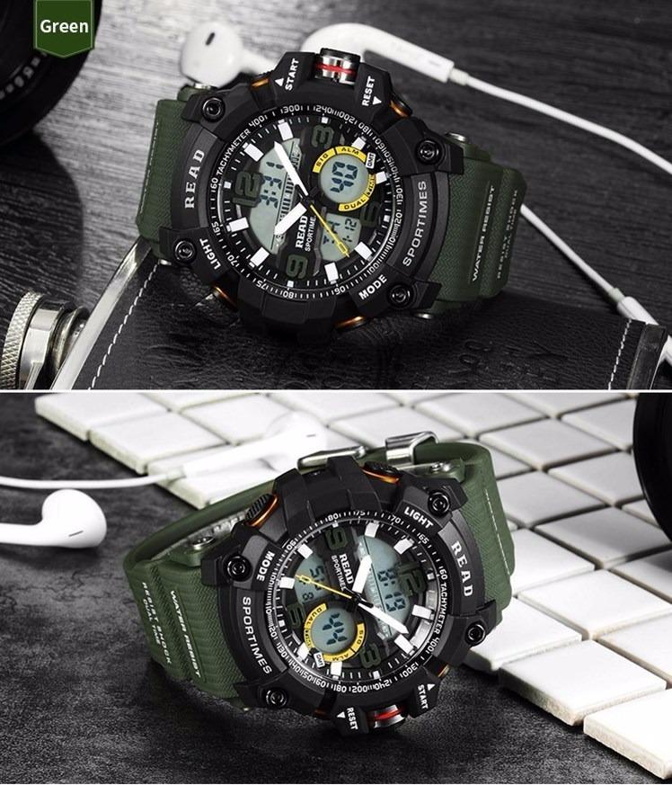 e792e3f356e relógio masculino read esportivo militar verde (promoção)... Carregando zoom .