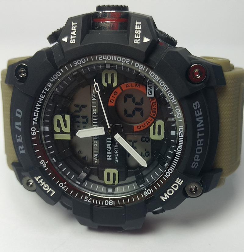 ed5fd68629c relógio masculino read preto led esportivo. Carregando zoom.