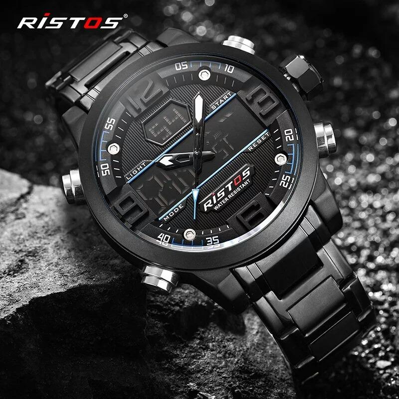 c142a87c0 relógio masculino ristos preto gg barato oferta promoção. Carregando zoom.