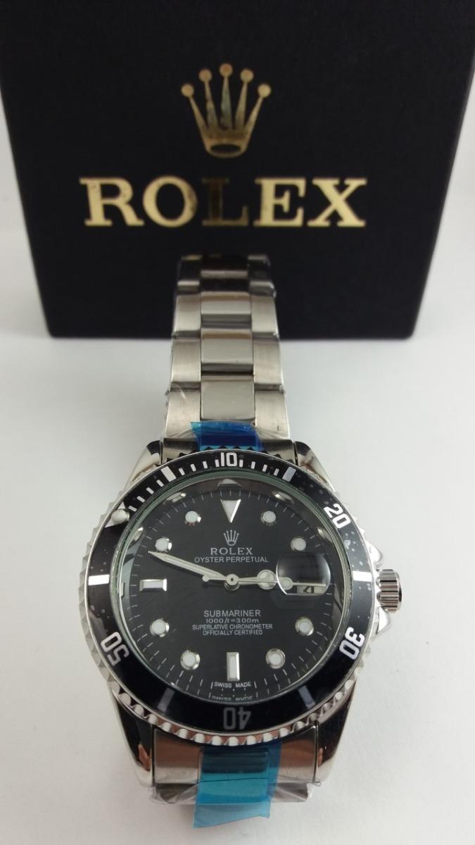 4638c65acbd relógio masculino rlx preto submariner mecânico automático. Carregando zoom.