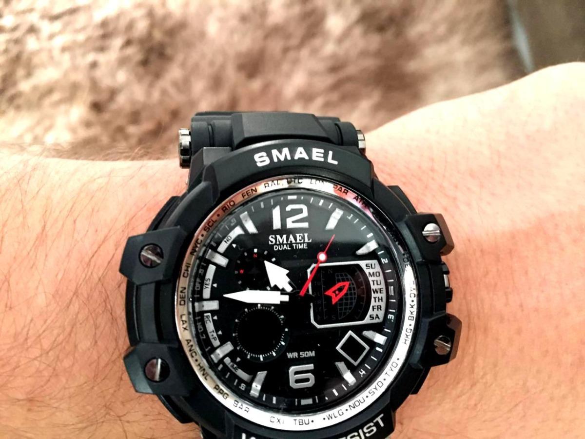 9b8e17e858d relógio masculino s-shock digital prova d água smael. Carregando zoom.