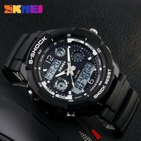 relógio masculino s-shock skmei 0931 original esportivo