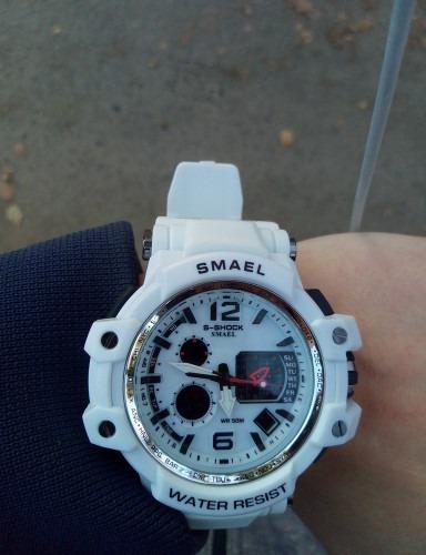 relógio masculino s-shock smael original branco esportivo