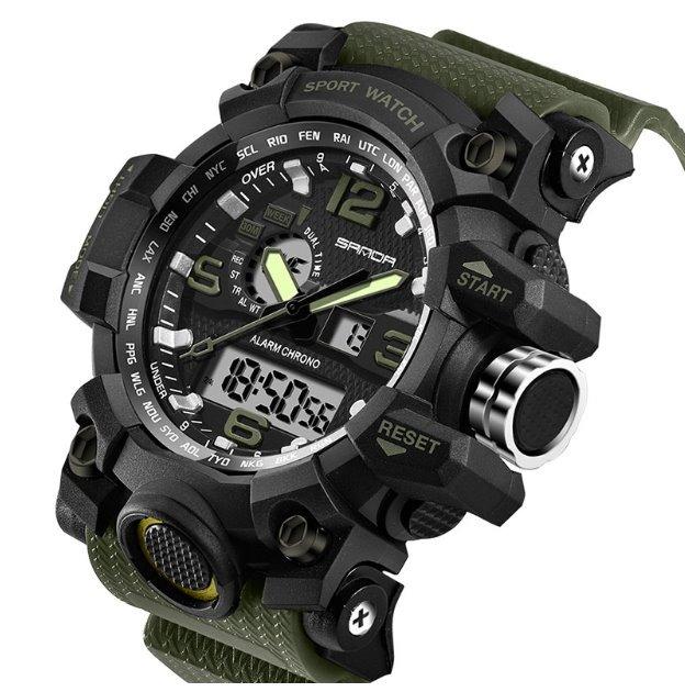 73346874043 Relógio Masculino Sanda Militar Grande Tipo G-shock Brinde - R  124 ...