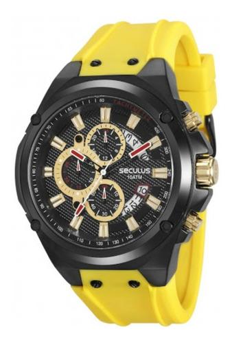 relógio masculino seculus 20553gpsvpu1