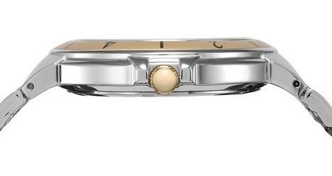 relógio masculino seculus 23530gpsvba2 analógo prata dourado