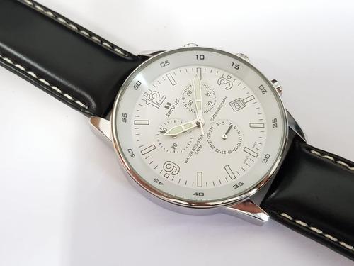 relógio masculino seculus 44341816lbssw swiss made