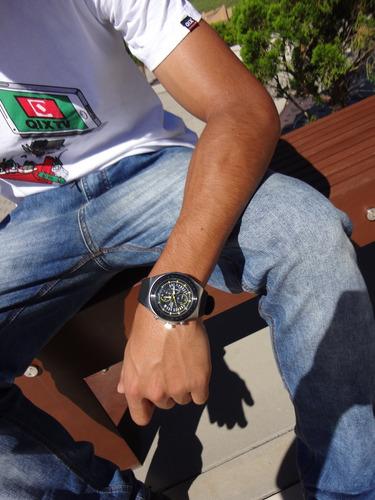 relógio masculino seculus analógico com cronógrafo 100metros