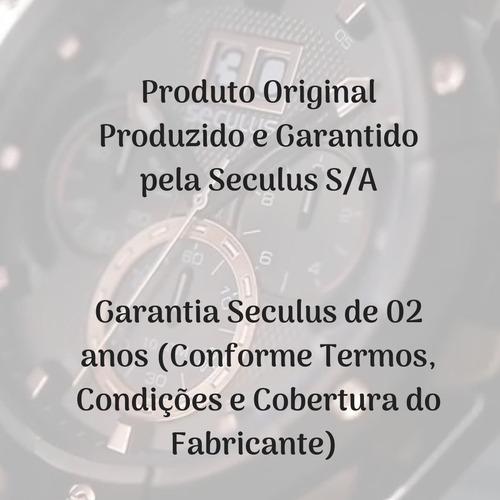relógio masculino seculus cavalo original 20441gpsvma1 + nfe