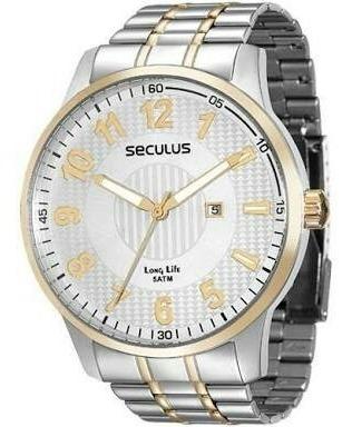 relógio masculino seculus misto 28760gpsgba3  original