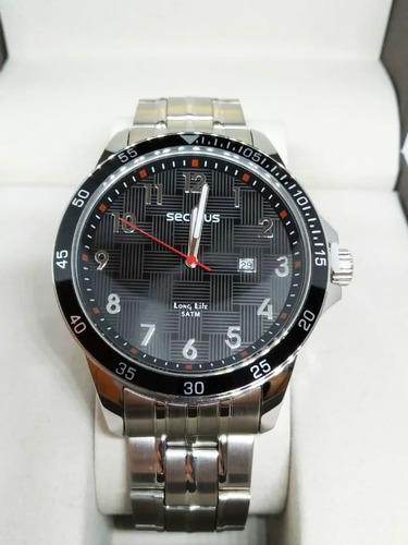 relógio masculino seculus prata 28986g0svna2