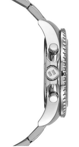relógio masculino seculus prateado cronógraf 13024g0svna1 nf