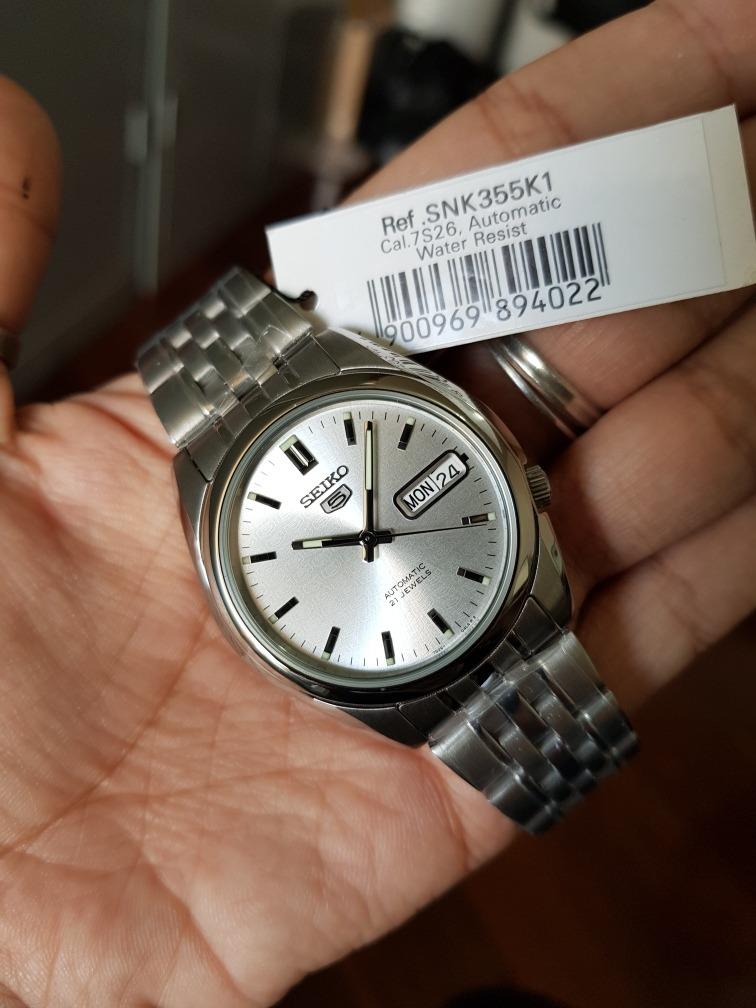 7e176b98349 relógio masculino seiko 5 automático clássico aço. Carregando zoom.