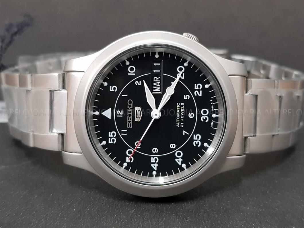 15750a43b6f relógio masculino seiko snk809k1 automático clássico. Carregando zoom.