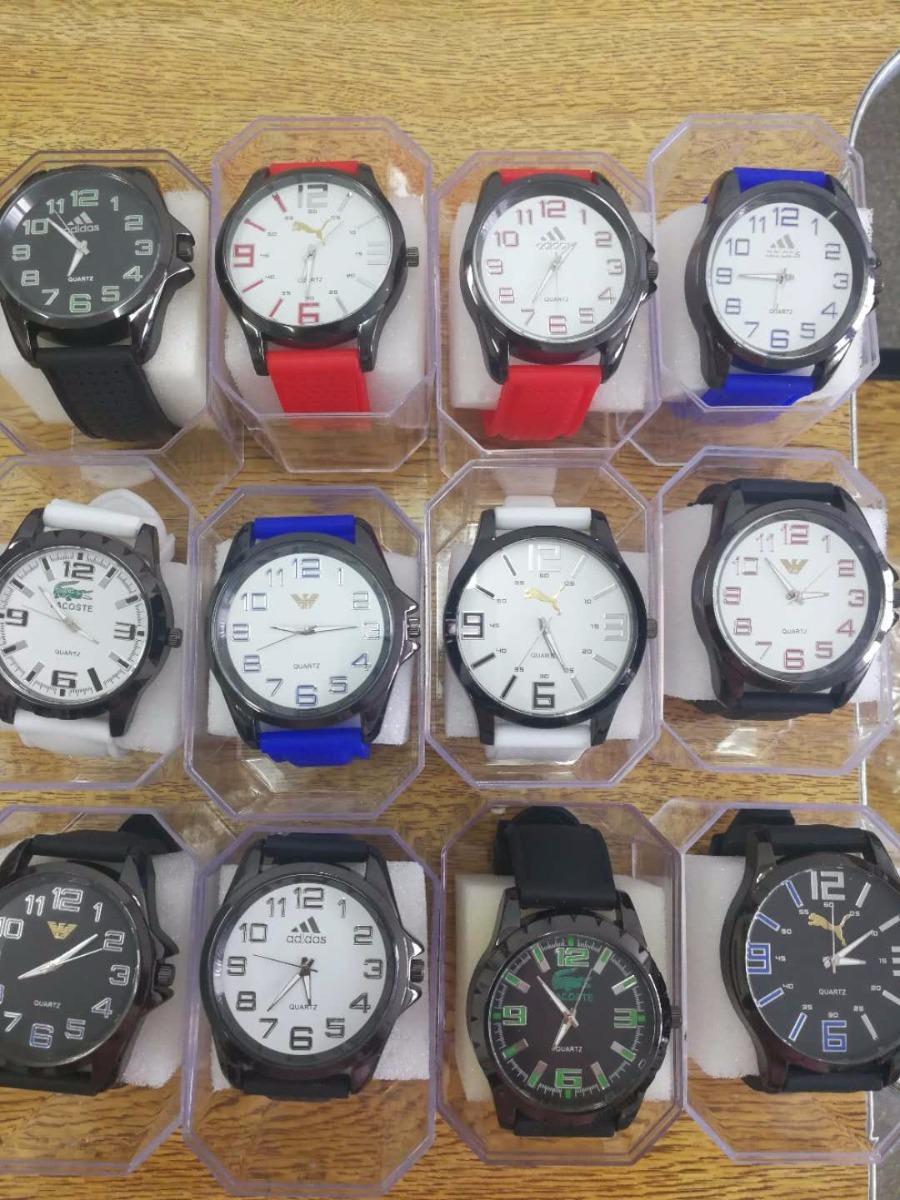 1ee4fd15b10 relógio masculino silicone kit 10 com caixinha marca varias. Carregando zoom .