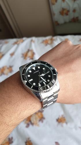 relógio masculino sinobi original quartz analógico pulseira de aço design clássico vintage resistente aprova de água