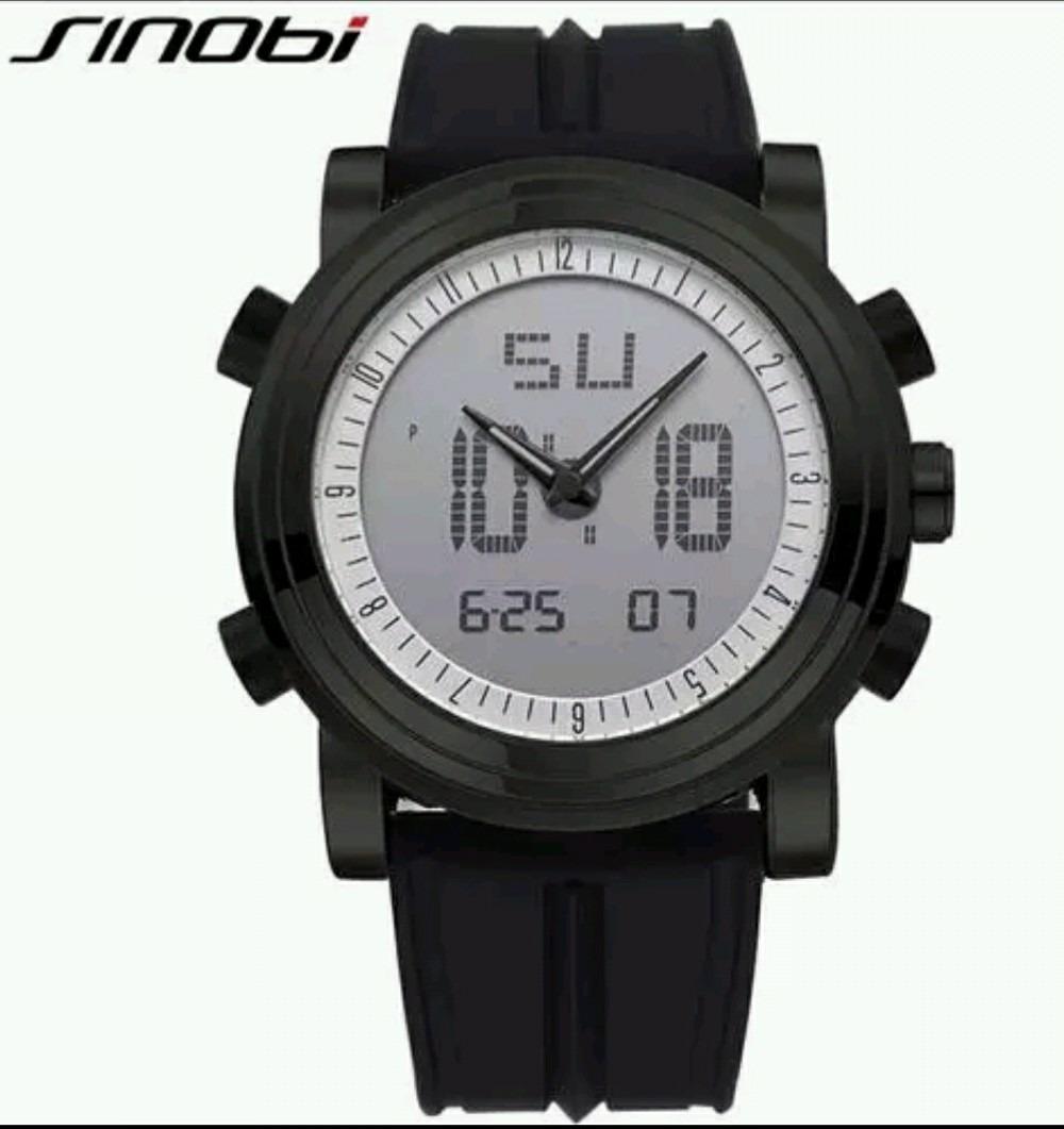 f16b3bed052 relógio masculino sinobi preto cronômetro. Carregando zoom.