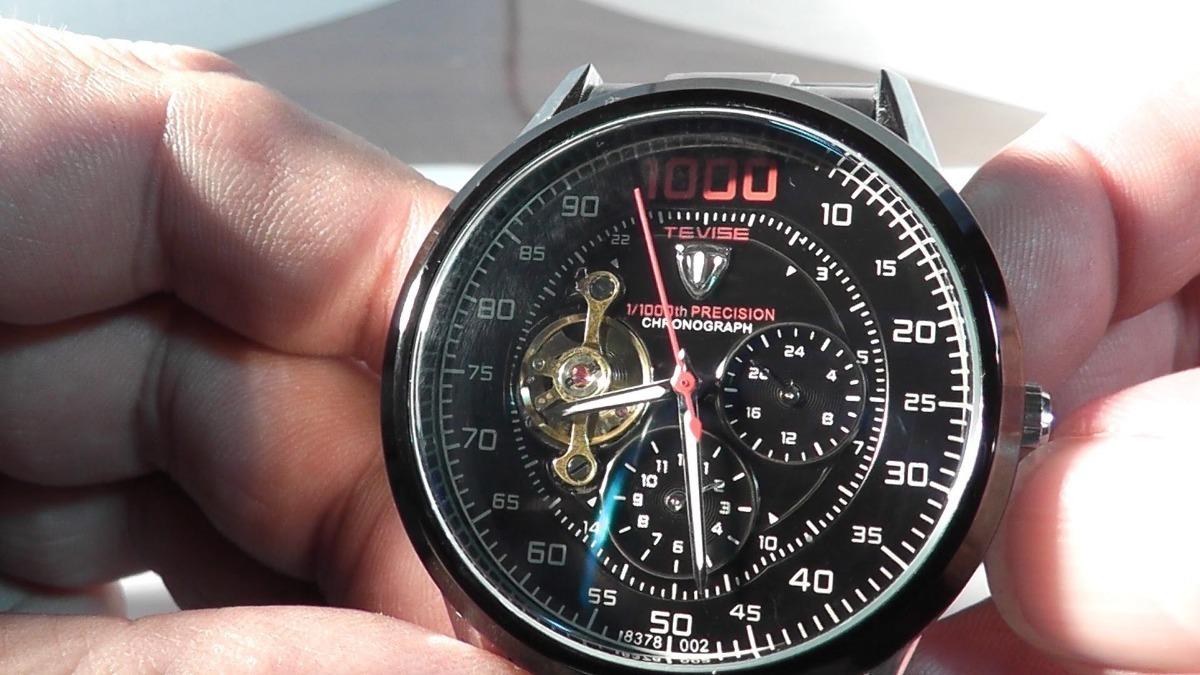 3f6c88b0070 relógio masculino skeleton tevise 8378 mecânico automático. Carregando zoom.