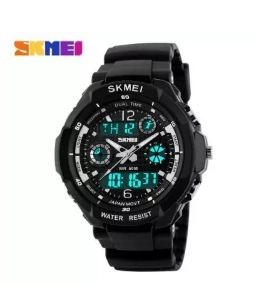 7f2fad8bd43 Relógio Masculino Skmei 0931 S-shock Digital Prova D água - R  59