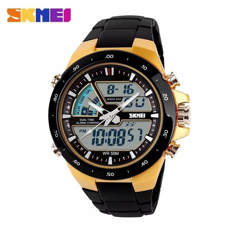 602b14c64c6 relógio masculino skmei 1016 original prova d agua wr 50 atm. Carregando  zoom.