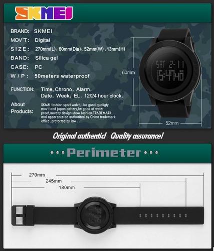 relógio masculino skmei 1142 1193 prova d'água militar