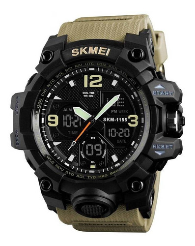 relógio masculino skmei 1155 prova d'água original