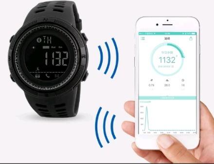 f55b1f784db Relogio Masculino Skmei 1250 Bluetooth Inteligente Smartwatc - R ...